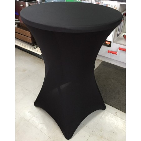 Table à cocktail avec spandex noir